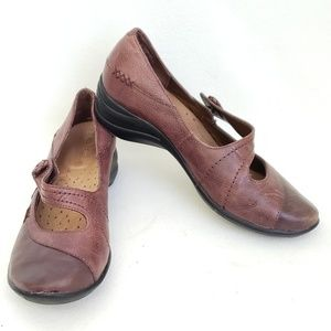 Hush Puppies Mary Jane Style Brown Leather Shoe